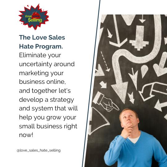 Love Sales Hate Selling Program